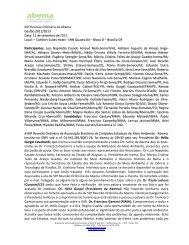 60ª Reunião Ordinária da Abema Gestão 2011/2013 Data: 11 de ...