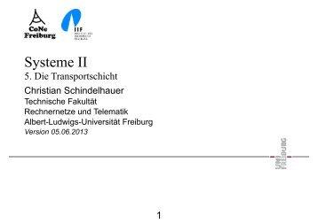 Systeme II - Rechnernetze und Telematik - Albert-Ludwigs ...