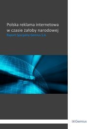Polska reklama internetowa w czasie żałoby narodowej - Gemius