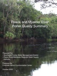 Peace and Myakka River Water Quality Summary 2002 - Southwest ...