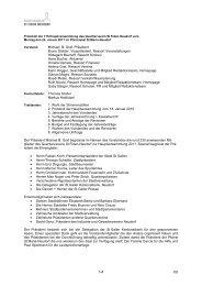 Protokoll der Hauptversammlung - Quartierverein St.Fiden-Neudorf