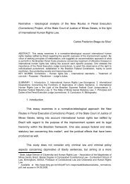 """Normative - teleological analysis of the Project """"Novos Rumos na ..."""