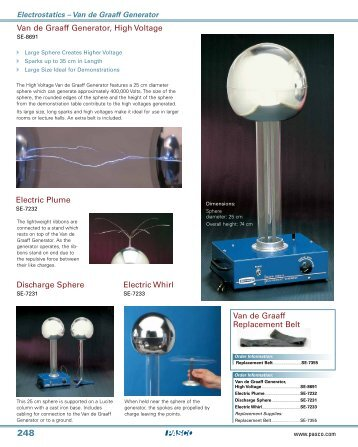 Van de Graaff Generator, High Voltage Discharge Sphere Electric ...