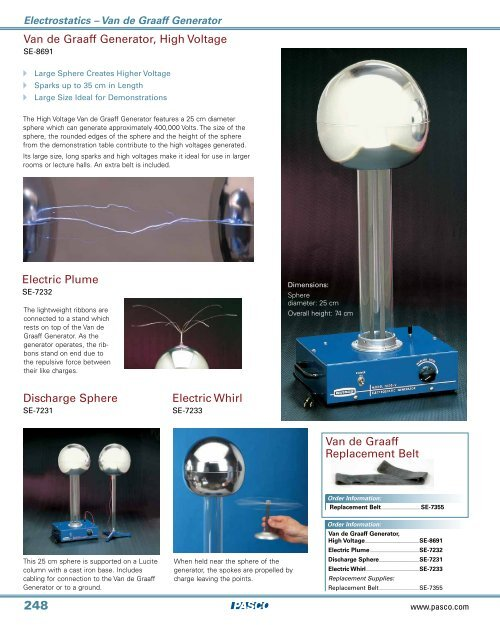 Electroscope Electrostatic Plume Science Electrostatics