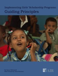 Guiding Principles - American Institutes for Research