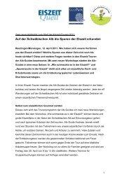 Zwei neue Highlights zum Start der Eiszeit-Touren 2011 - EiszeitQuell