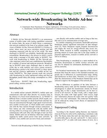 Network-wide Broadcasting in Mobile Ad-hoc Networks