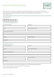 Form change of personal details - Insight Investment