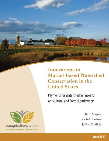 Innovations in Market-Based Watershed Conservation in the United ...