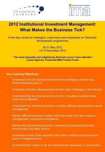 2012 Institutional Investment Management: