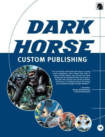 CUSTOM PUBLISHING - Dark Horse Comics