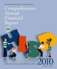 CAFR 2009-2010 - Houston Independent School District