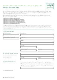 UK funds institutional application form - Insight Investment