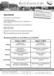 Speisekarte - Public Arts Network