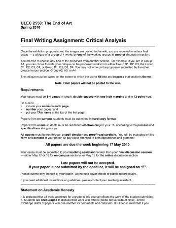 Pe written assignments