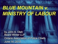 BLUE MOUNTAIN v. MINISTRY OF LABOUR BLUE MOUNTAIN v ...