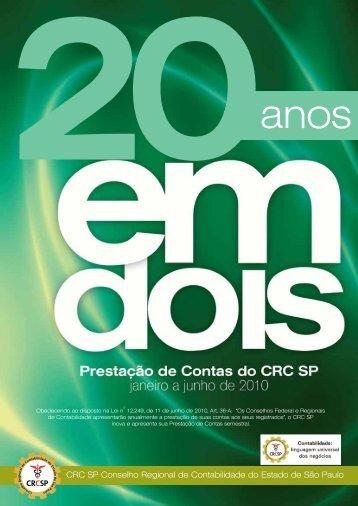 CRC SP Conselho Regional de Contabilidade do Estado de São ...