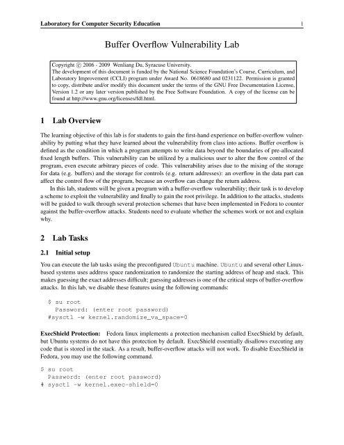 Kernel Space Vulnerabilities