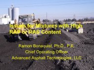 Issues for Mixtures With High RAP or RAS Content - neaupg