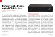 Berkeley Audio Design Alpha USB Interface - Son et image
