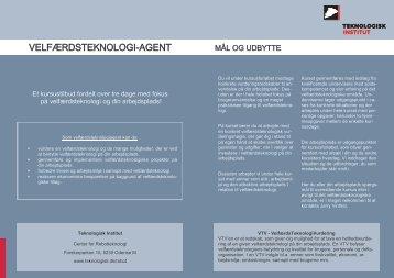 Velfærdsteknologi-agent kursusfolder (222 KB) - CareNet