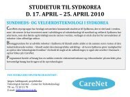 Invitation Studietur Korea 2010 - CareNet