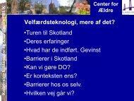 Oplæg om Telecare i Skotland.pdf - CareNet