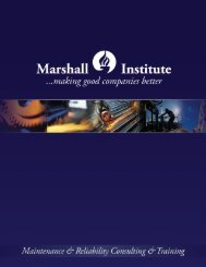 How We Do It - Marshall Institute