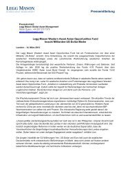 Press Release - International News - Legg Mason
