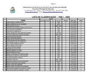 Classificação PB I - em PDF/159 KB - Prefeitura de Peruíbe