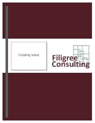 Creating Value - Filigree Consulting