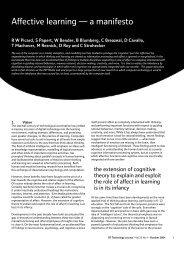 Affective learning — a manifesto - Digital Life Consortium - MIT
