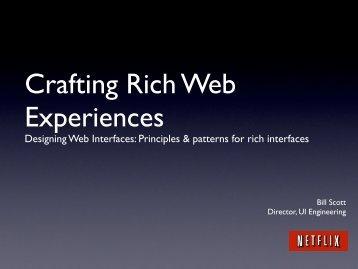 CraftingRichWebExper.. - Bill Scott's Portfolio