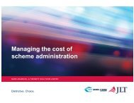 Managing the cost of scheme administration - Professional Pensions