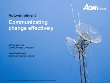 Communicating change effectively - Professional Pensions