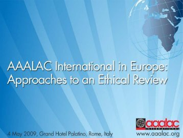 download the presentation - Aaalac