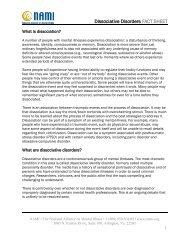 Dissociative Disorders FACT SHEET