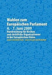 Wahlen zum Europäischen Parlament 4. - 7. Juni 2009 - CCME