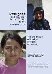 Refugees and their Way through Turkey to the European ... - CCME