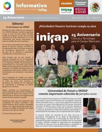 Boletín Informativo INIFAP # 28