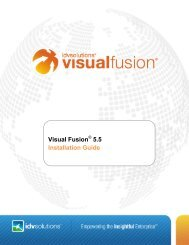 Visual Fusion 5.5 Installation Guide - IDV Solutions Product Help