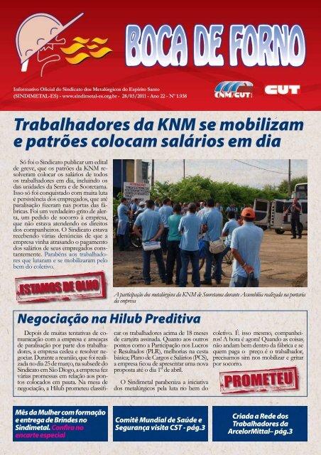 Trabalhadores da KNM se mobilizam e patrões colocam ... - CNM/CUT