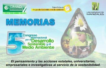 Memorias V Congreso Internacional por el desarrollo sostenible y el ...