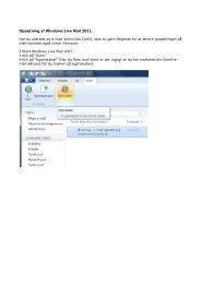 Opsætning af Windows Live Mail 2011 Har du allerede en e ... - ComX