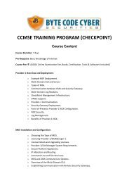 ccmse training program (checkpoint) - Byte Code Cyber Security