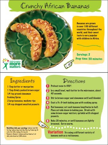 Crunchy African Bananas - Maryland Healthy Eating and Active ...