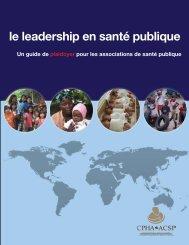 le leadership en santé publique - World Federation of Public Health ...