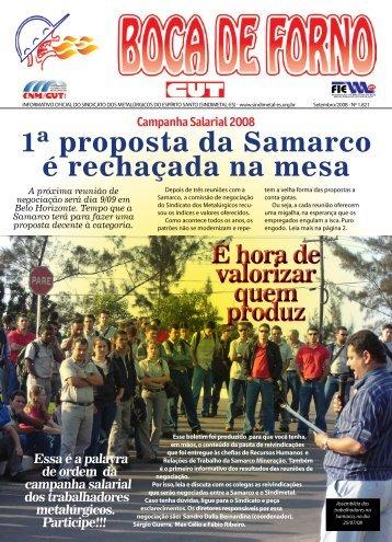 1ª proposta da Samarco é rechaçada na mesa - CNM/CUT