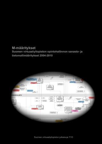 M-proosadokumentit kokoava dokumentti - M-määritykset - CSC