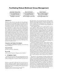 Facilitating Robust Multicast Group Management - NMSL